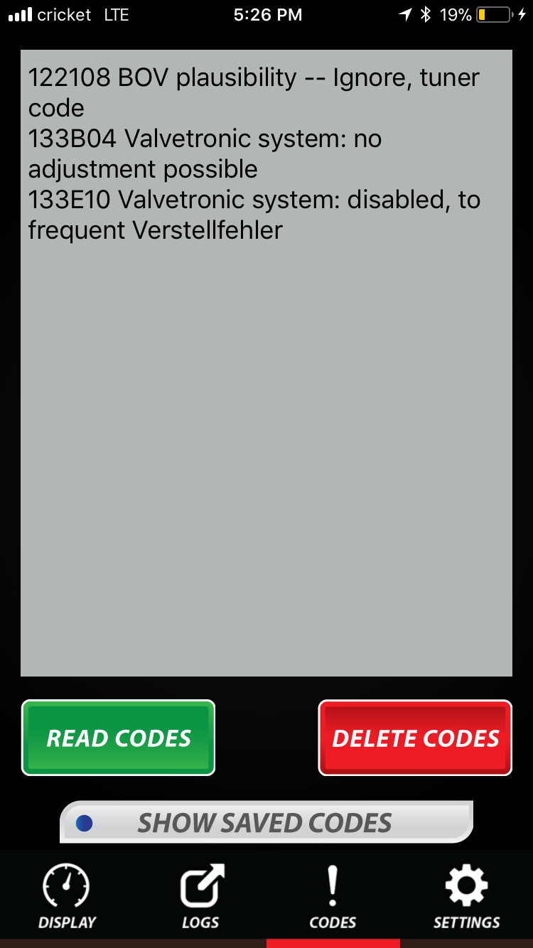 Code 133E10 valvtronic system: disabled, to frequent verstellfehler